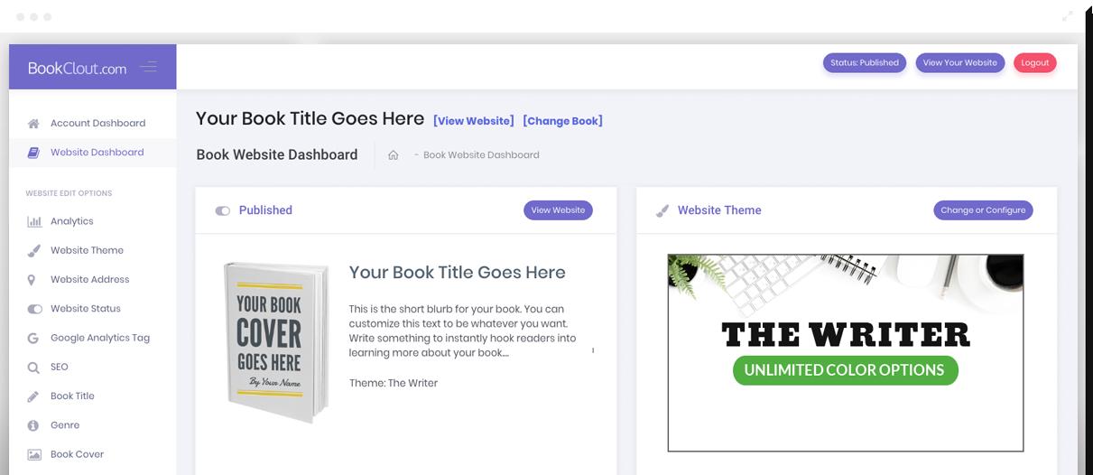 BookClout Member Dashboard